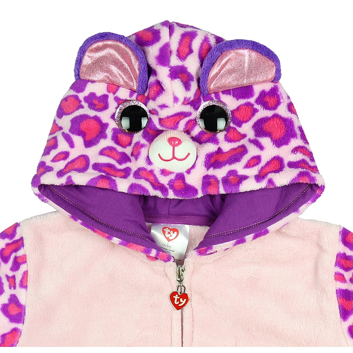 bb2d5f263f5 Shop TY Beanie Boo Girls  Glamour The Leopard Plush Costume Hoodie - Free  Shipping On Orders Over  45 - Overstock - 19473486
