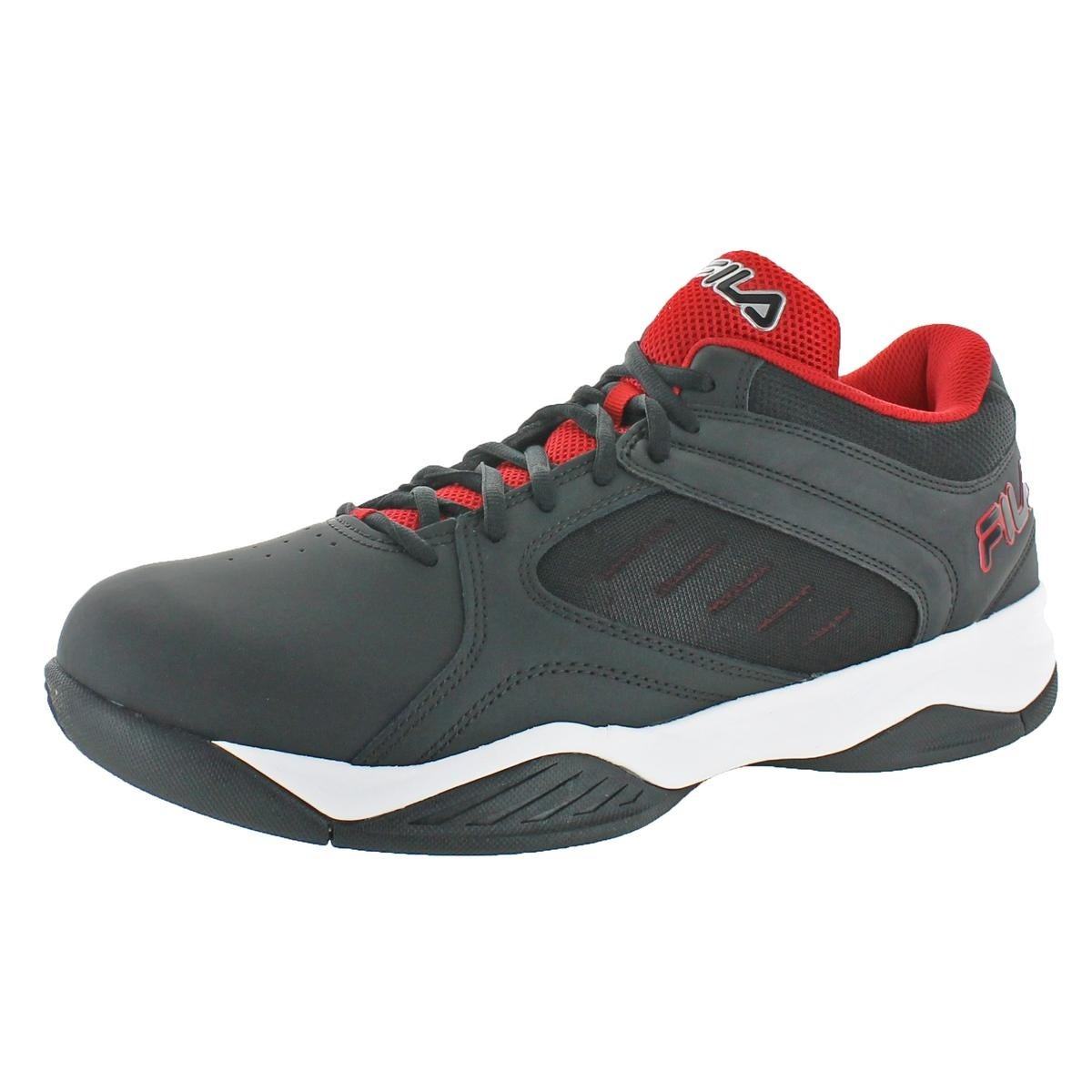 best website 777cc cc5bf Fila Mens Bank Basketball Shoes Leather Lightweight