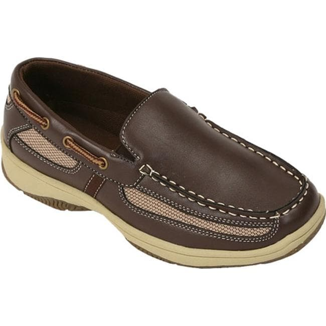 05a4ad1e30e Shop Deer Stags Boys  Pal Boat Shoe Dark Brown - On Sale - Free ...