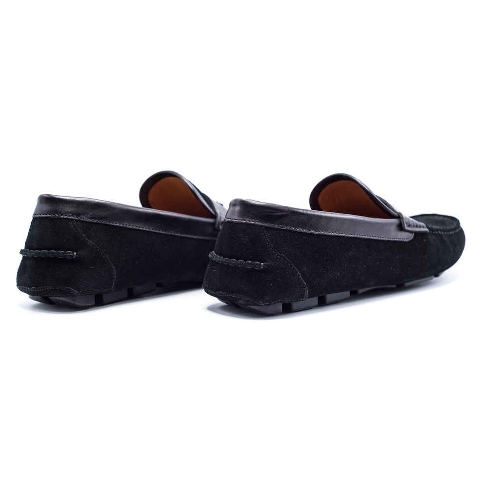 140428ad3fa Shop Givenchy Mens Black Suede Penny Loafers - Free Shipping Today -  Overstock - 21179861