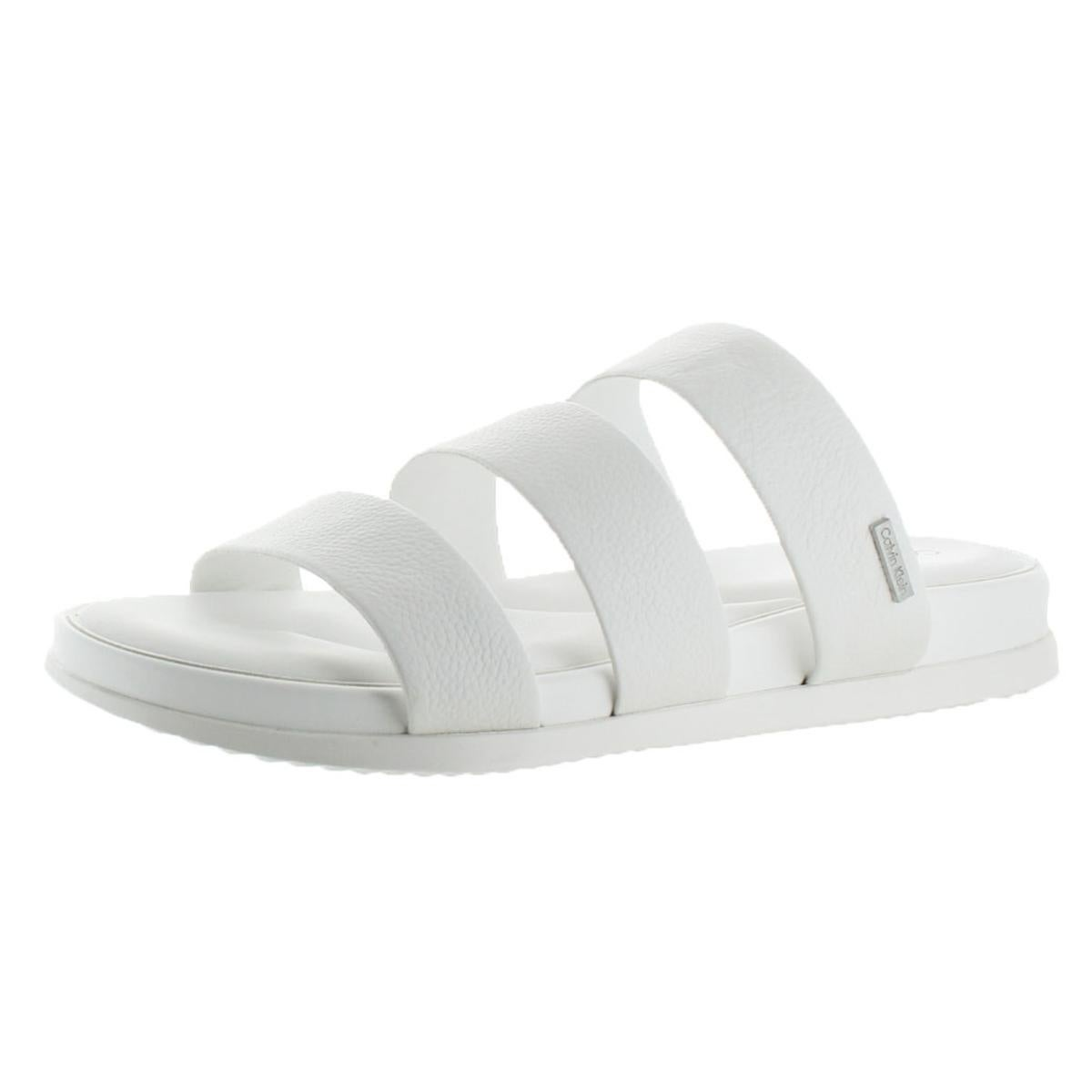 7f0f8561f02 Shop Calvin Klein Womens Dalana Slide Sandals Open Toe Strappy - On Sale -  Free Shipping On Orders Over  45 - Overstock - 21182176