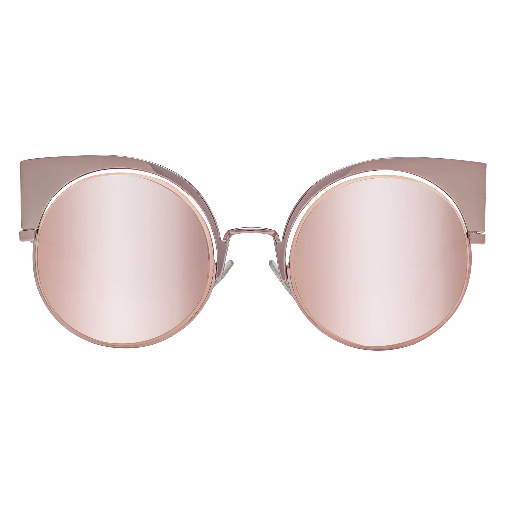 5cd2920c3350f Shop Fendi FF 0177 S Z5D 0J Rose Pink Grey Mirror Women s Cat Eye Round  Sunglasses - Rose Pink - 53mm-22mm-135mm - Free Shipping Today - Overstock  - ...