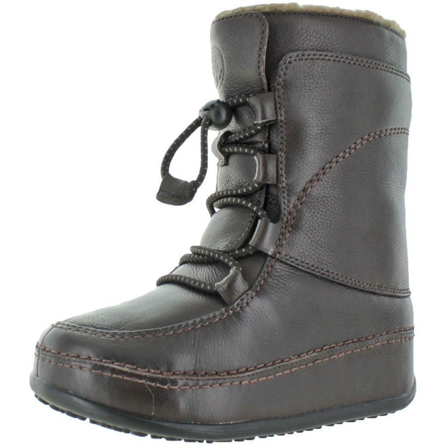 FitFlop Women\u0027s MukLuk Moc Lace Up Leather Boot Bootie - Free Shipping  Today - Overstock.com - 24522073