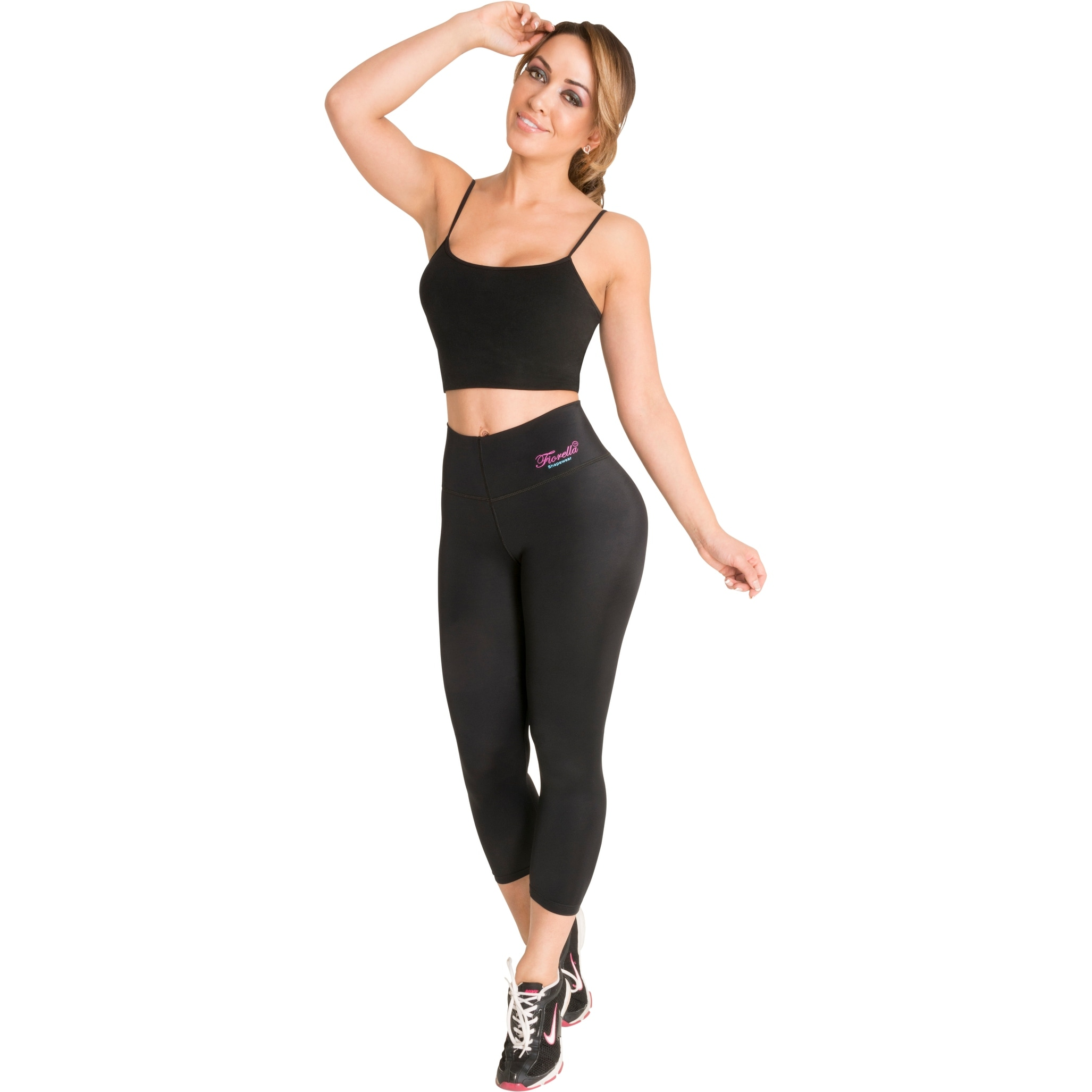 ce8710dc1 Shop Butt Lifter Leggings Capris with Internal High Rise Body Shaper  Powernet Levanta Cola Colombianos Bl - Free Shipping Today - Overstock -  18041596