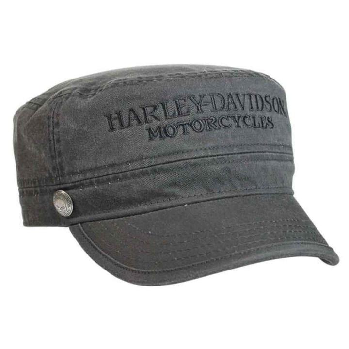 4888bac38 Harley-Davidson Men's Hubcap Embroidered H-D Painter's Cap, Wash Black  PC102921