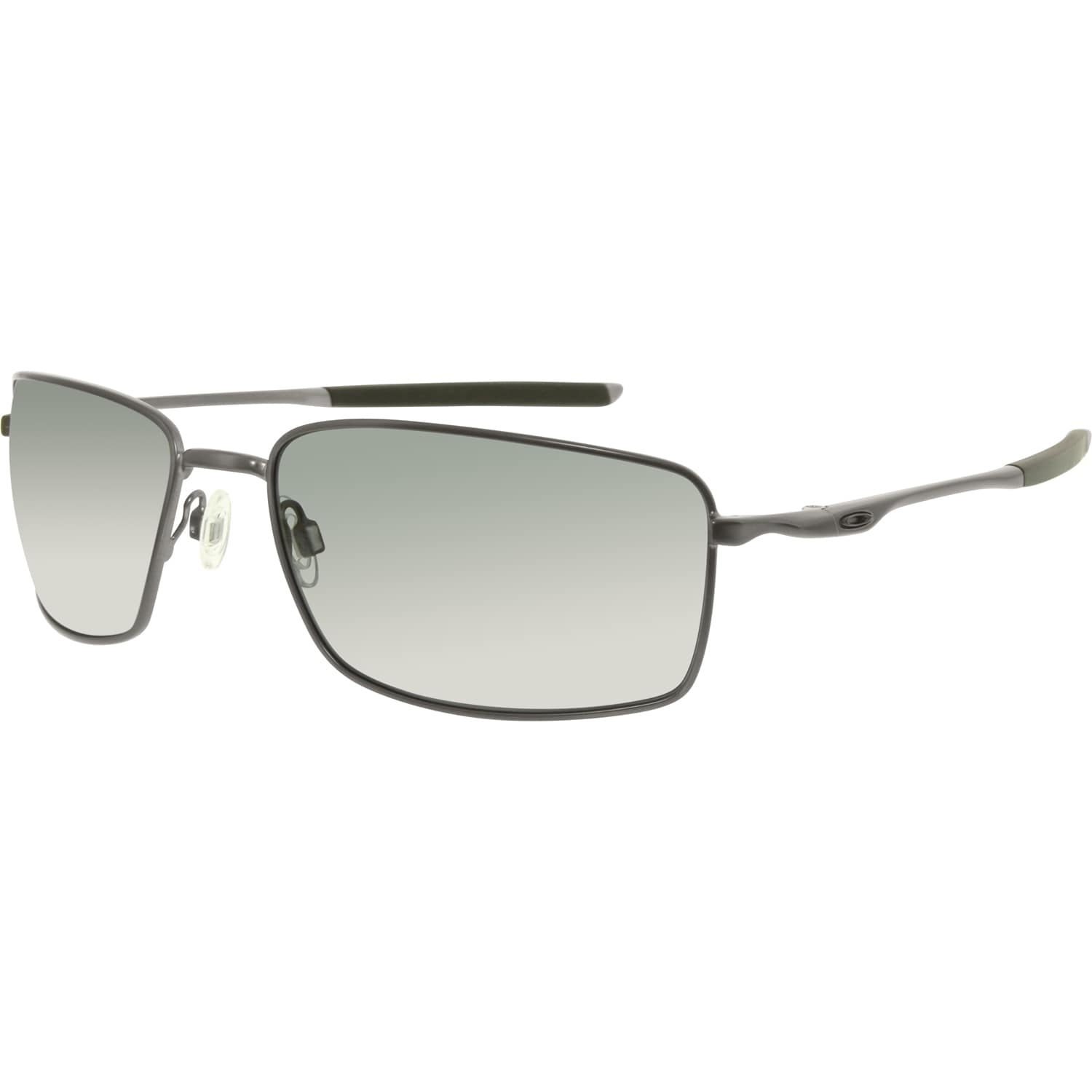 Oakley Men\'s Polarized Square Wire OO4075-04 Gunmetal Rectangle ...