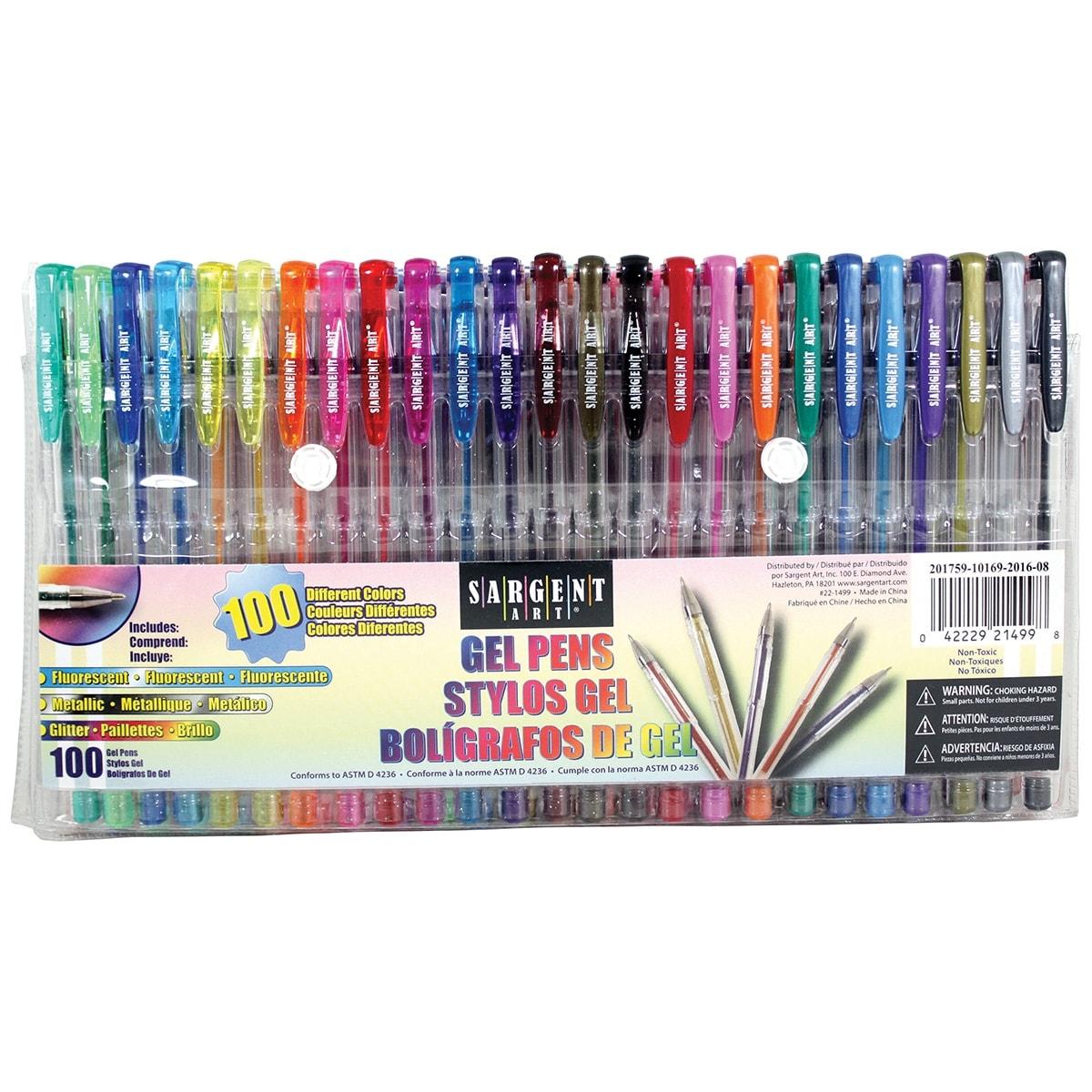 Sargent Art Gel Pen Set 100/Pkg-Assorted
