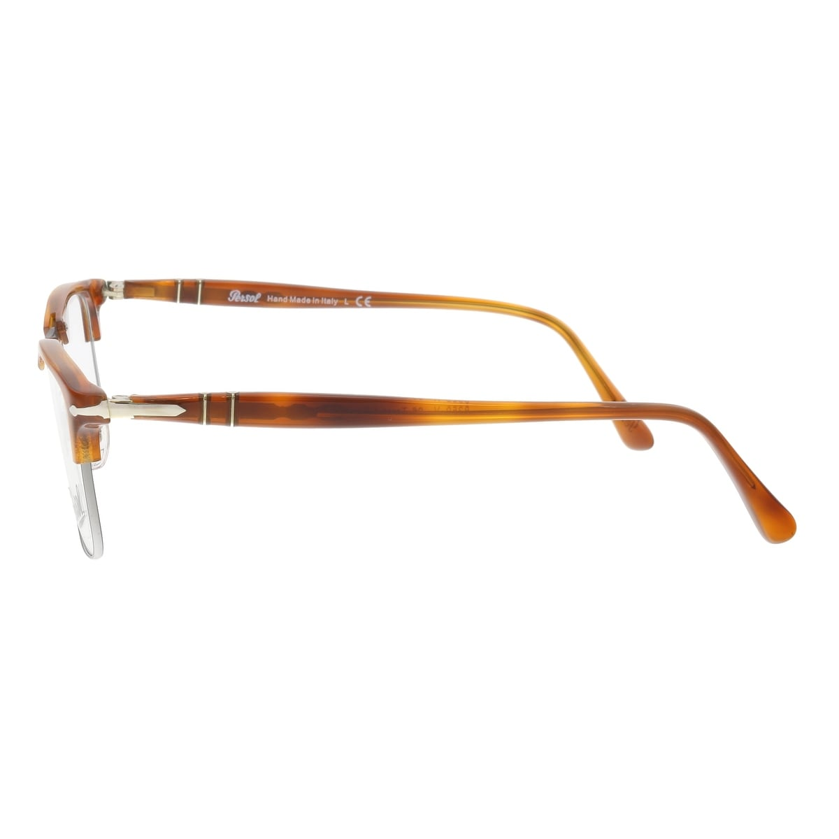c8bca42c64 Shop Persol PO8359V 96 Terra di Siena Amber Silver Square Optical Frames -  51-19-145 - On Sale - Free Shipping Today - Overstock - 19881343