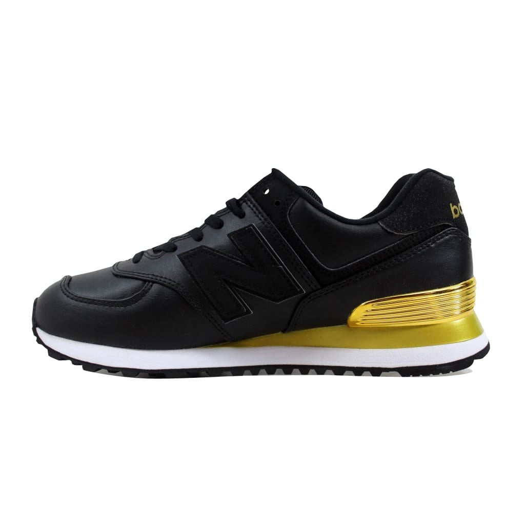 official photos 09349 4bebb Shop New Balance 574 Gold Dip Black Gold WL574URC Women s - Free Shipping  Today - Overstock - 27339678