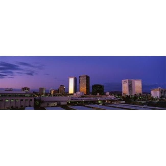 Shop USA Arizona Phoenix Skyline at dusk Poster Print by - 36 x 12 - Free Shipping Today - Overstock.com - 24777489