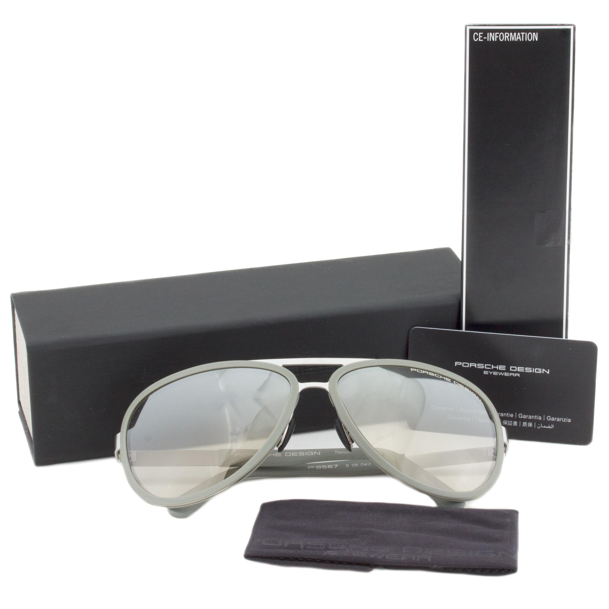 dc0bd3058260 Shop Porsche Design Design P8567 D Titanium Sunglasses - Free Shipping  Today - Overstock.com - 19490036