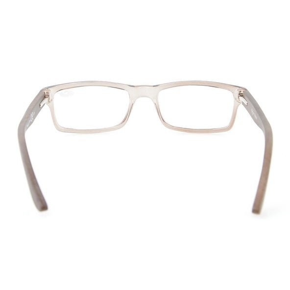 71a9a696d21 Shop Eyekepper Quality Spring Hinges Wood Arms Mens Womens Reading Glasses  Grey Frame +4.0 - Free Shipping On Orders Over  45 - Overstock - 17782001