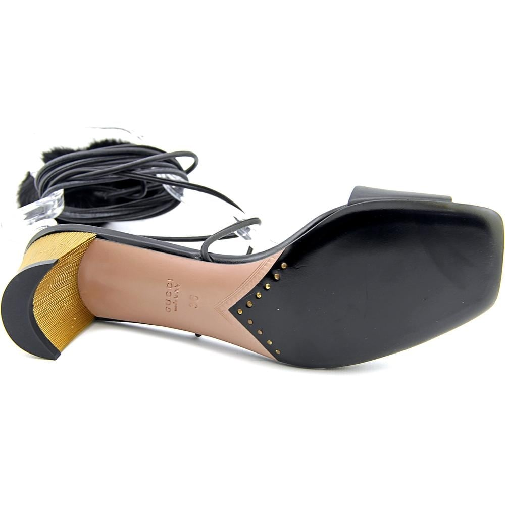 06b6fcd593d4dd Shop Gucci Betis Glamour Visone Women Open Toe Leather Black Sandals - Free  Shipping Today - Overstock - 15455073