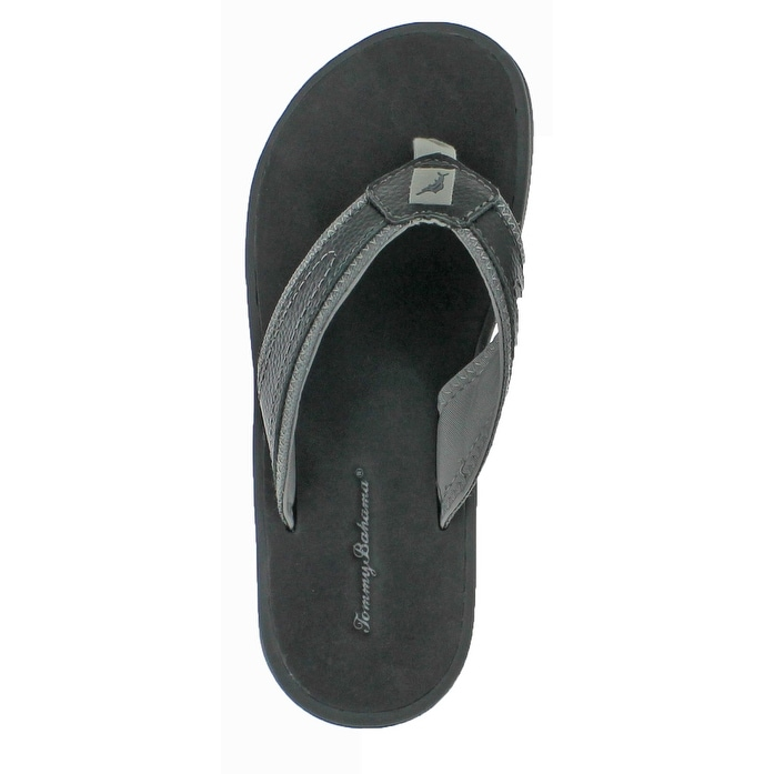 b3e19fa4399f9e Shop Tommy Bahama Seawell Men s Leather Flip Flop Sandals - Free Shipping  On Orders Over  45 - Overstock - 20636502