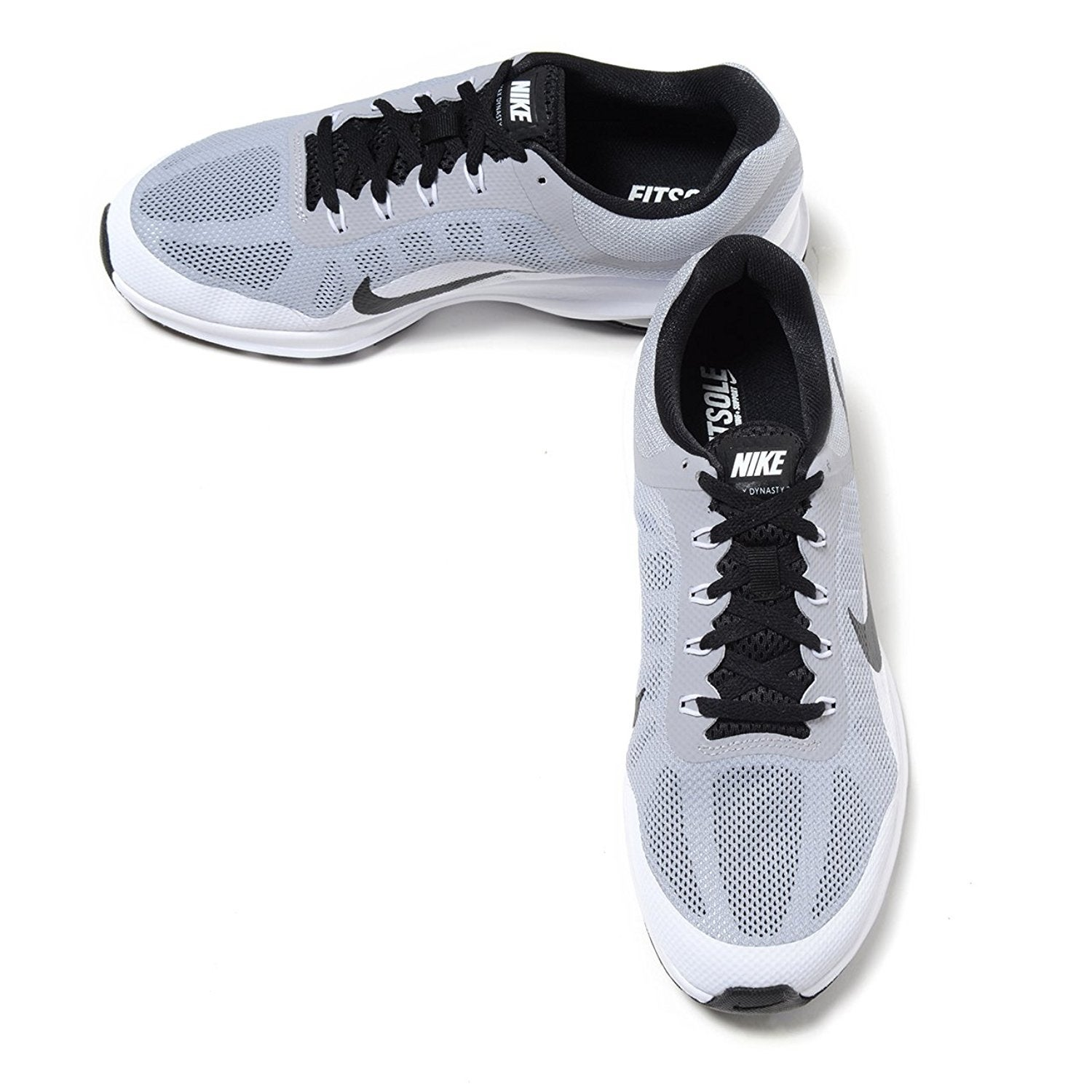 e695777a1fc Shop Nike Air Max Dynasty 2 Wolf Grey White White Men s Black Running Shoes  - wolf grey white white black - Free Shipping Today - Overstock - 18280214
