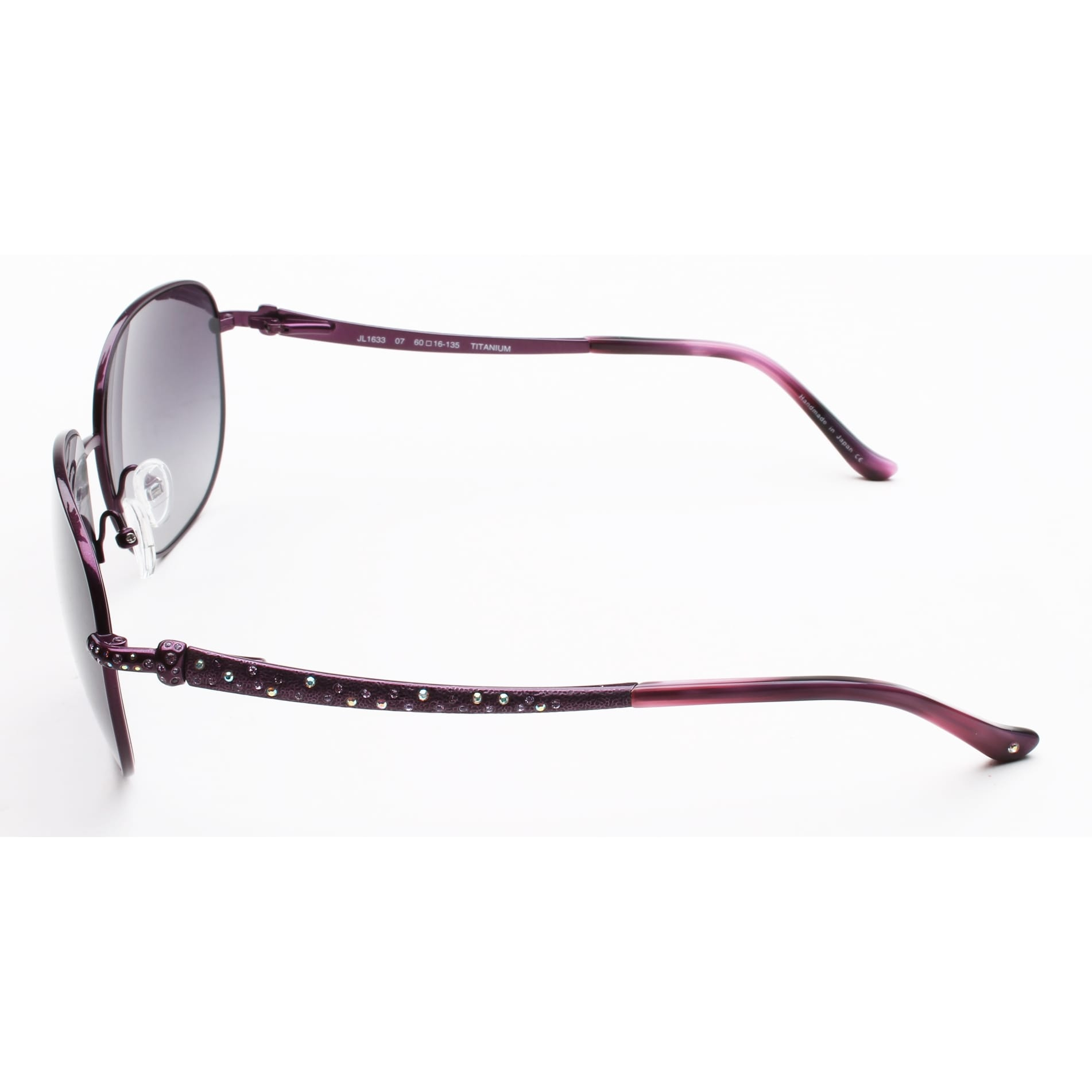 641353740be Judith Leiber Women s Hammered Sunglasses Amethyst - Purple - Small - Free  Shipping Today - Overstock.com - 19135361