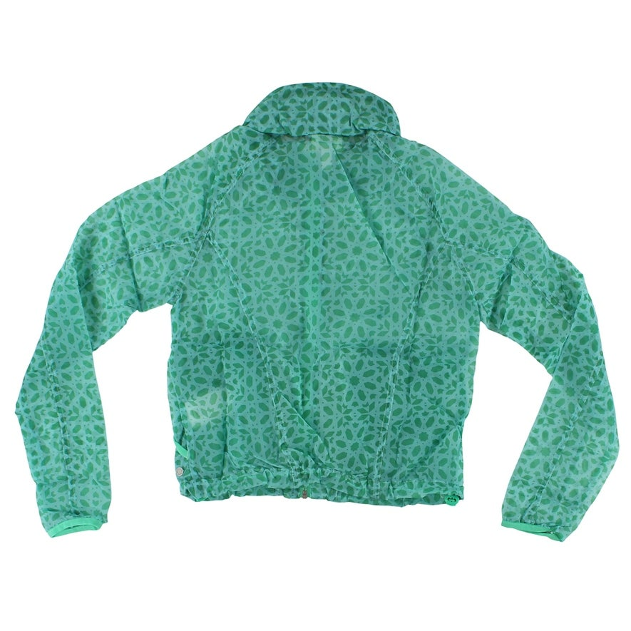 40c1aab056c8e Shop Adidas Womens Pattern Lightweight Windbreaker Jacket Aqua - Aqua Green  - M - Free Shipping On Orders Over  45 - Overstock - 22574124