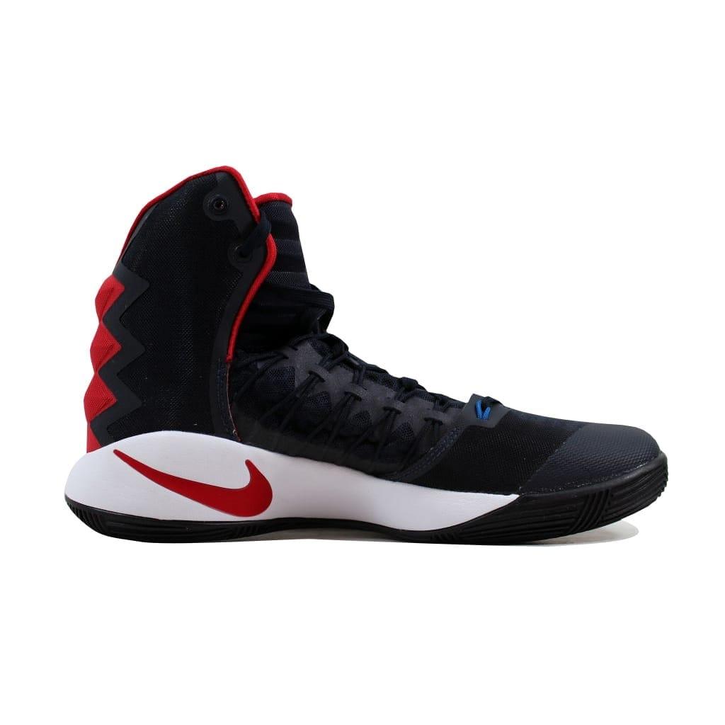 9661b389ea86 Shop Nike Men s Hyperdunk 2016 Dark Obsidian Dark Obsidian-Bright Crimson  844359-446 - Free Shipping Today - Overstock - 22340151
