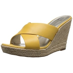 Anne Klein Womens Waleigh Open Toe Casual Espadrille Sandals   Free  Shipping Today   Overstock.com   21078699
