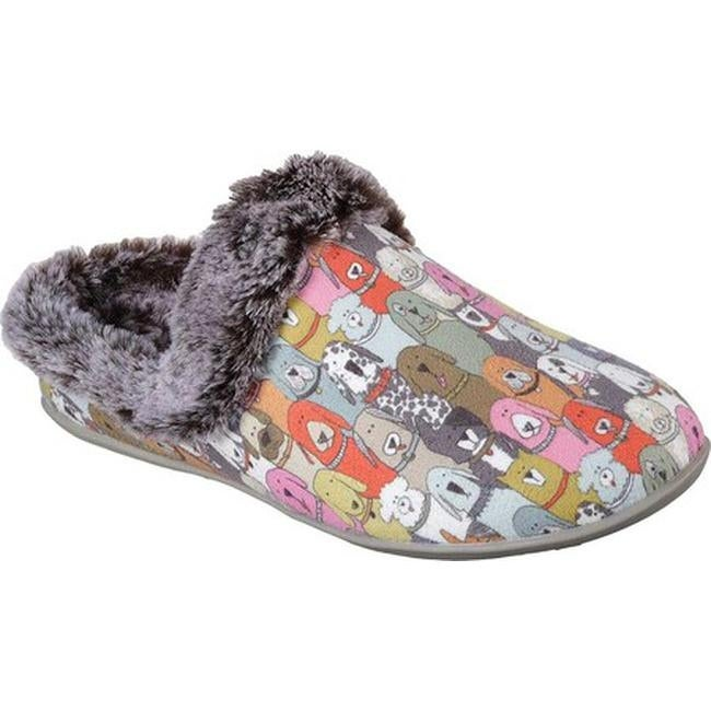 a4e472b93c6 Skechers Women's Beach Bonfire Cuddle Mutts Clog Slipper Multi