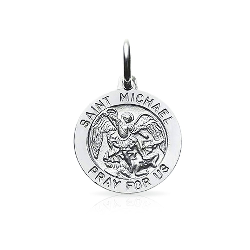 catholic medal company pewter st michael michaels the inch chain pendant