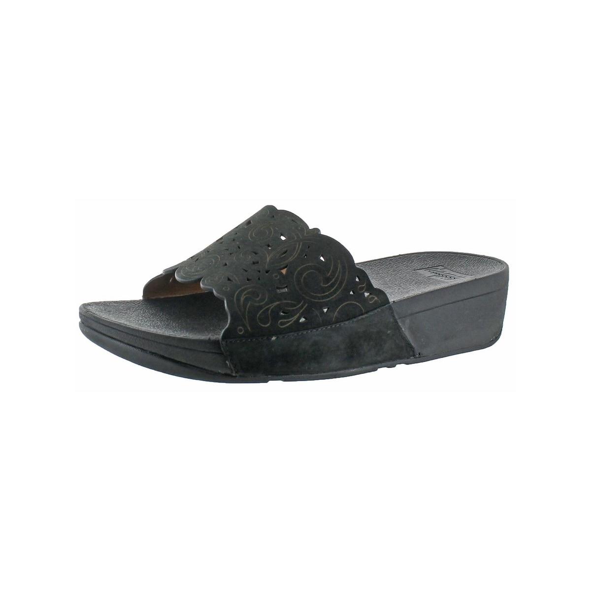 e441da46ee54b Fitflop Womens Flora Slide Sandals Leather Slip On