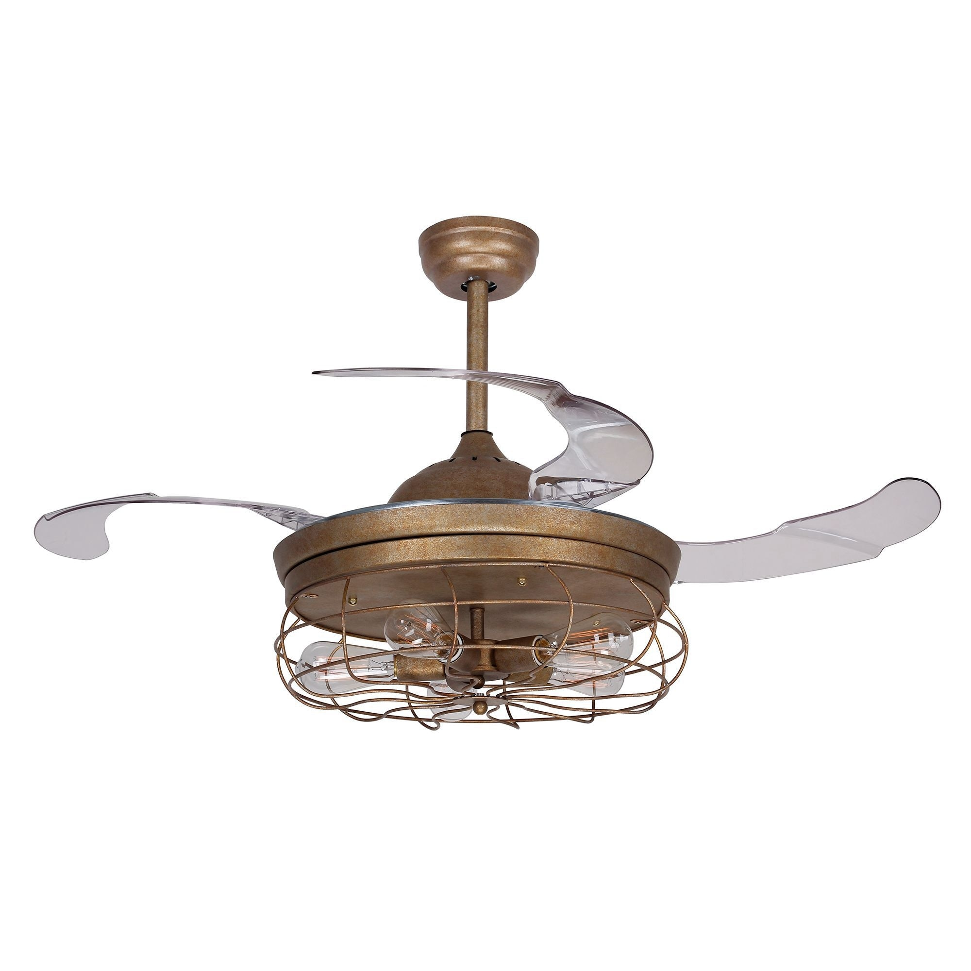 42 5 inch industrial foldable 4 blades 5 light ceiling fan with