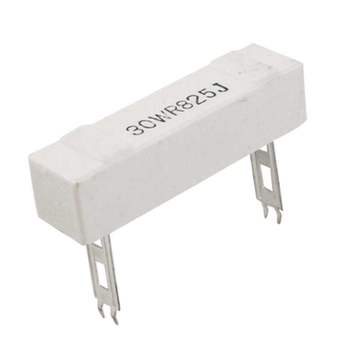 Shop Unique Bargains Wire Wound Ceramic Cement Resistor 0.825 Ohm ...