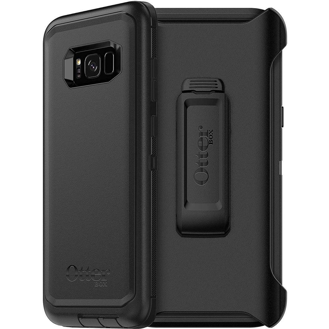 best sneakers 5d647 da234 OtterBox Defender Series Case, Screen Protector & Holster for Samsung  Galaxy S8 PLUS - Non-Retail Packaging- Black