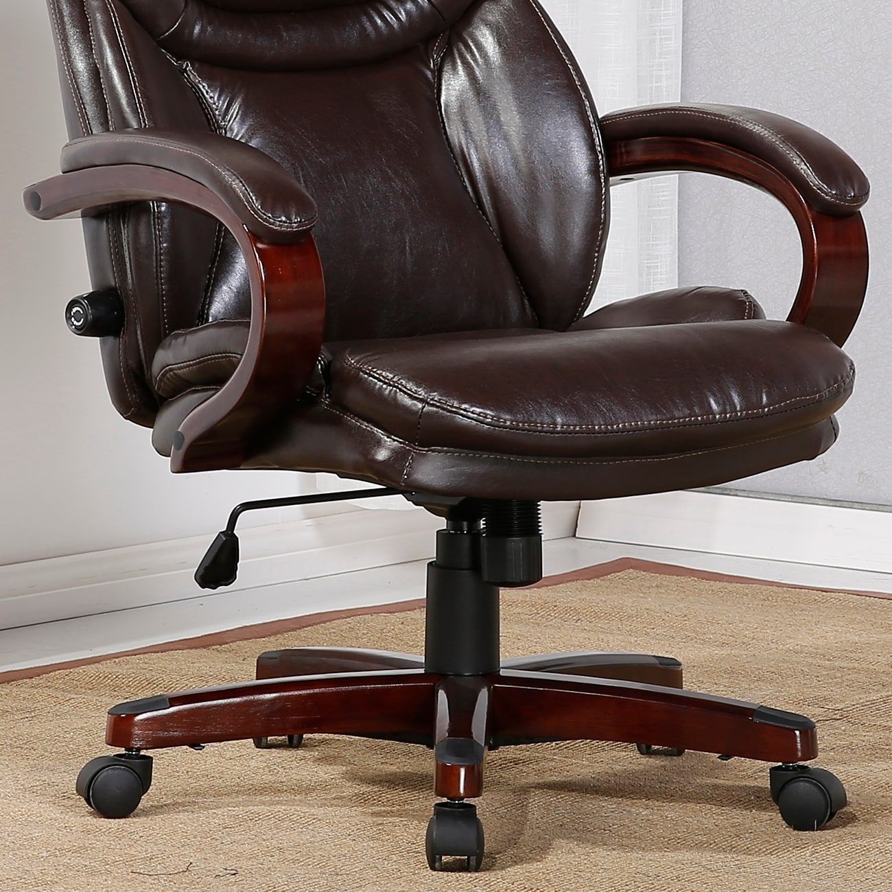 shop belleze executive office chair adjustable lumbar support back