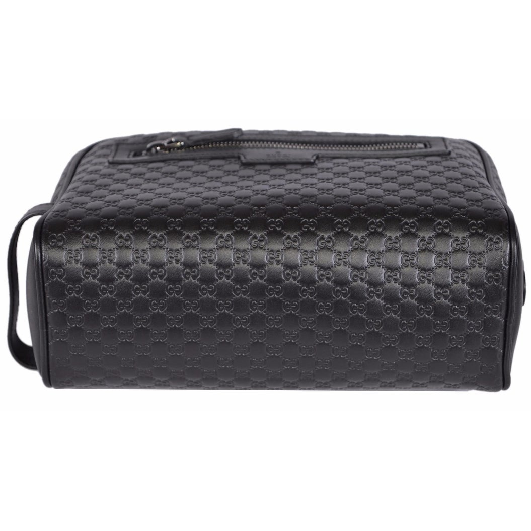 89fc0d2df20209 Shop Gucci Men's 419775 Black Leather Micro GG Guccissima Large Toiletry  Dopp Bag - Free Shipping Today - Overstock - 14085700
