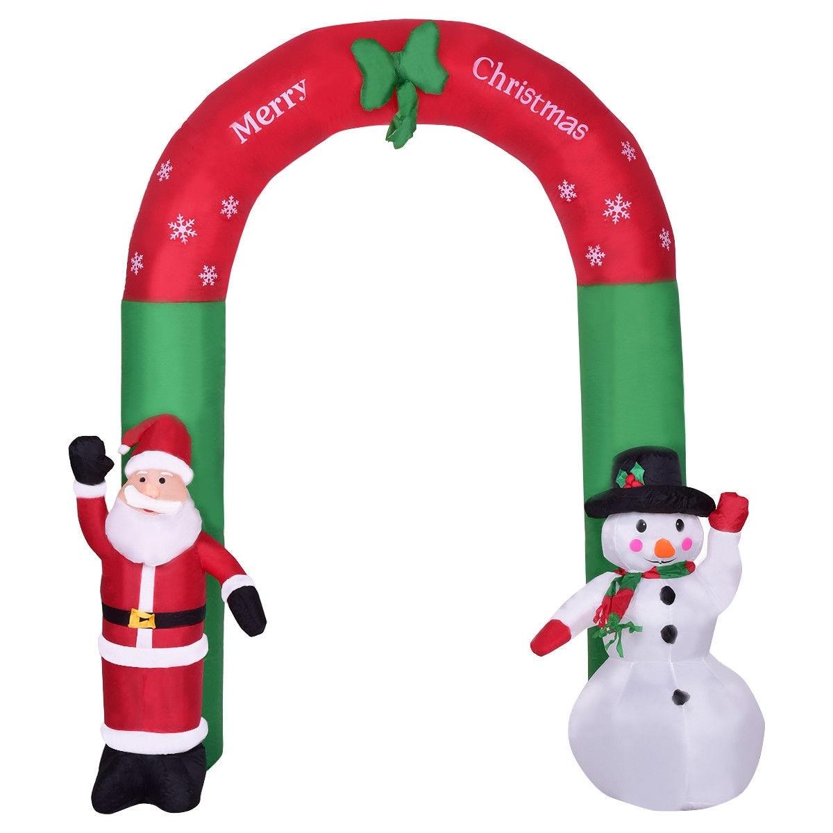 Shop Costway 8.2\' Indoor/Outdoor Snowman Santa Claus Christmas ...