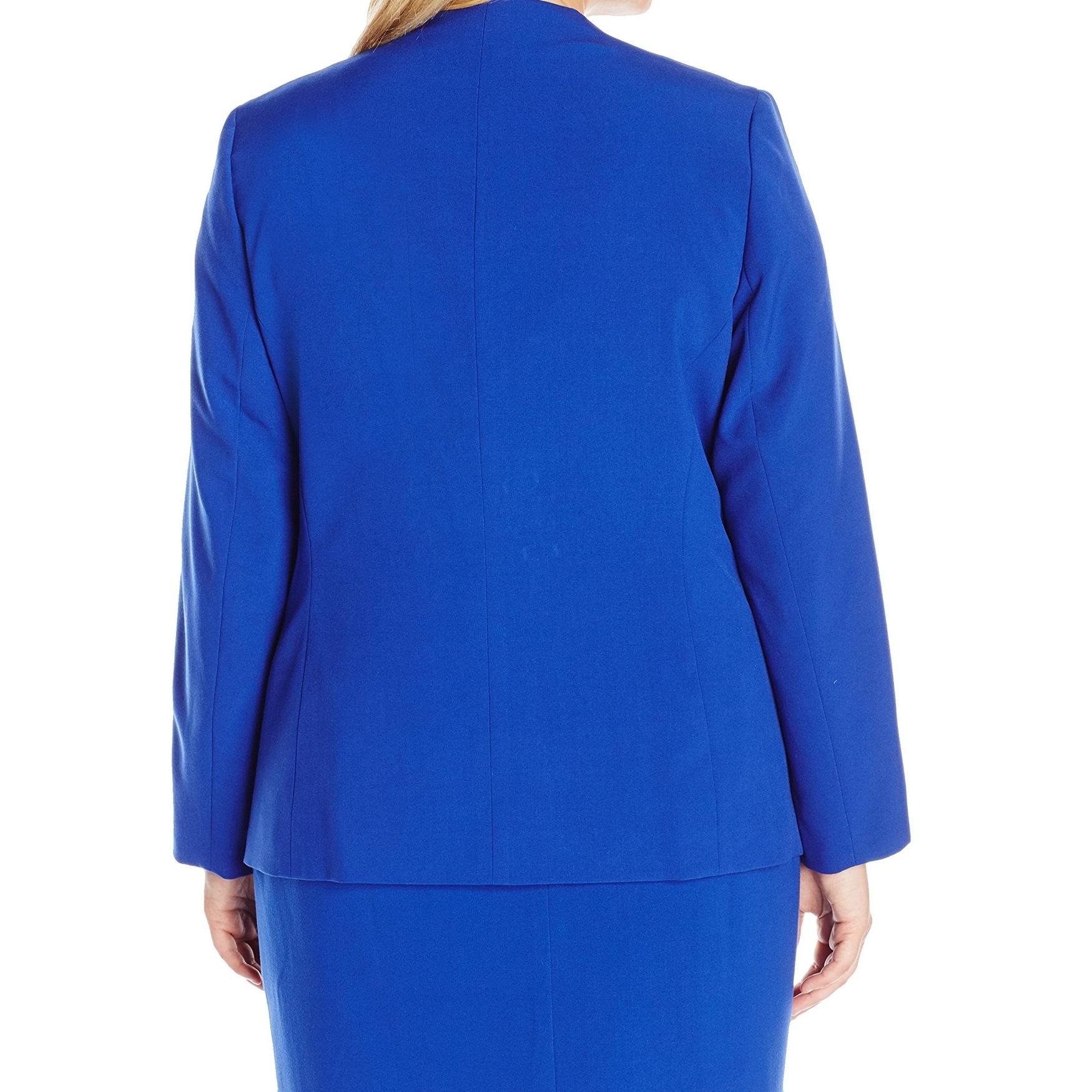 Shop Nine West New Royal Blue Women S Size 20w Plus Draped Front