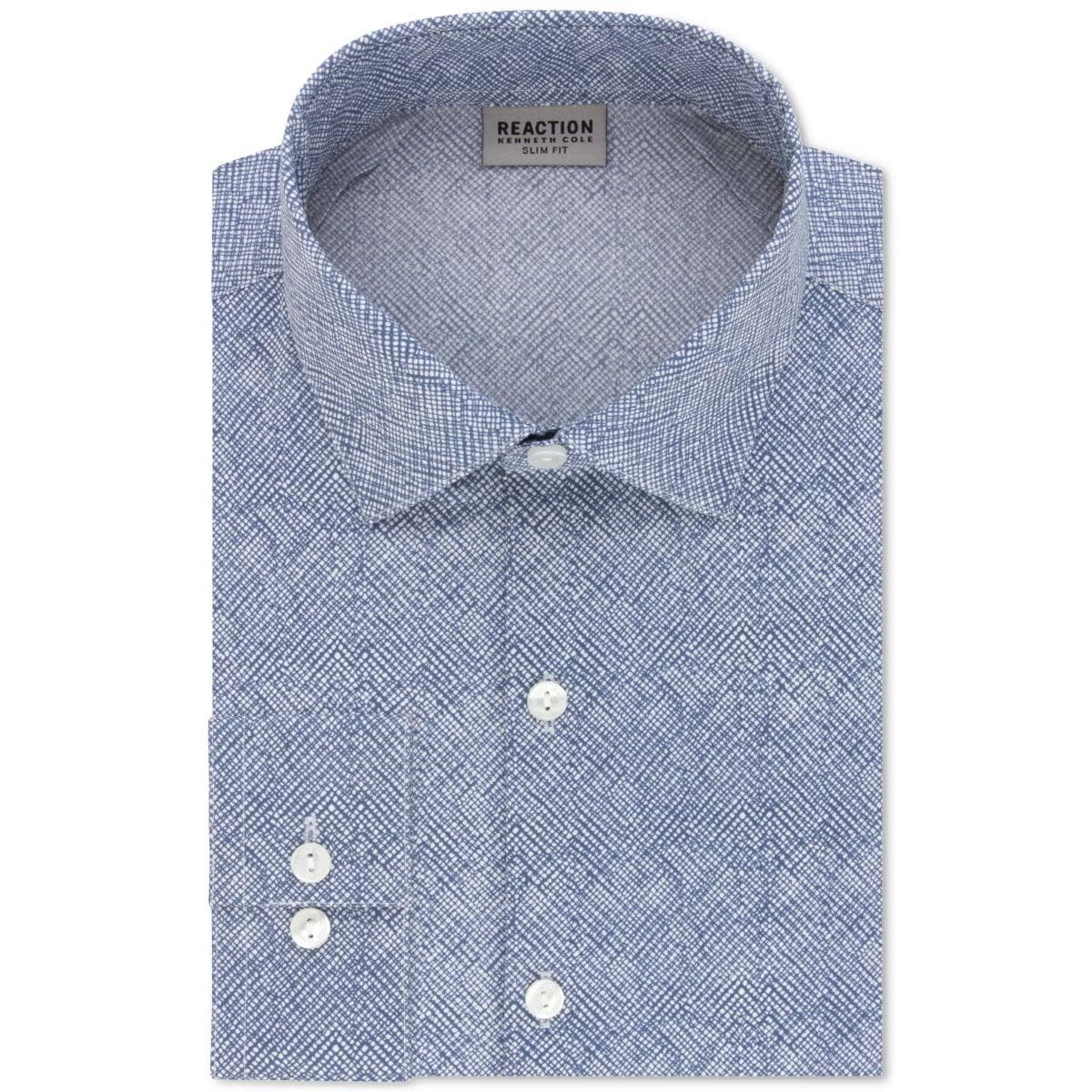 Shop Kenneth Cole Reaction Mens Dress Shirt Printed Slim Fit Free