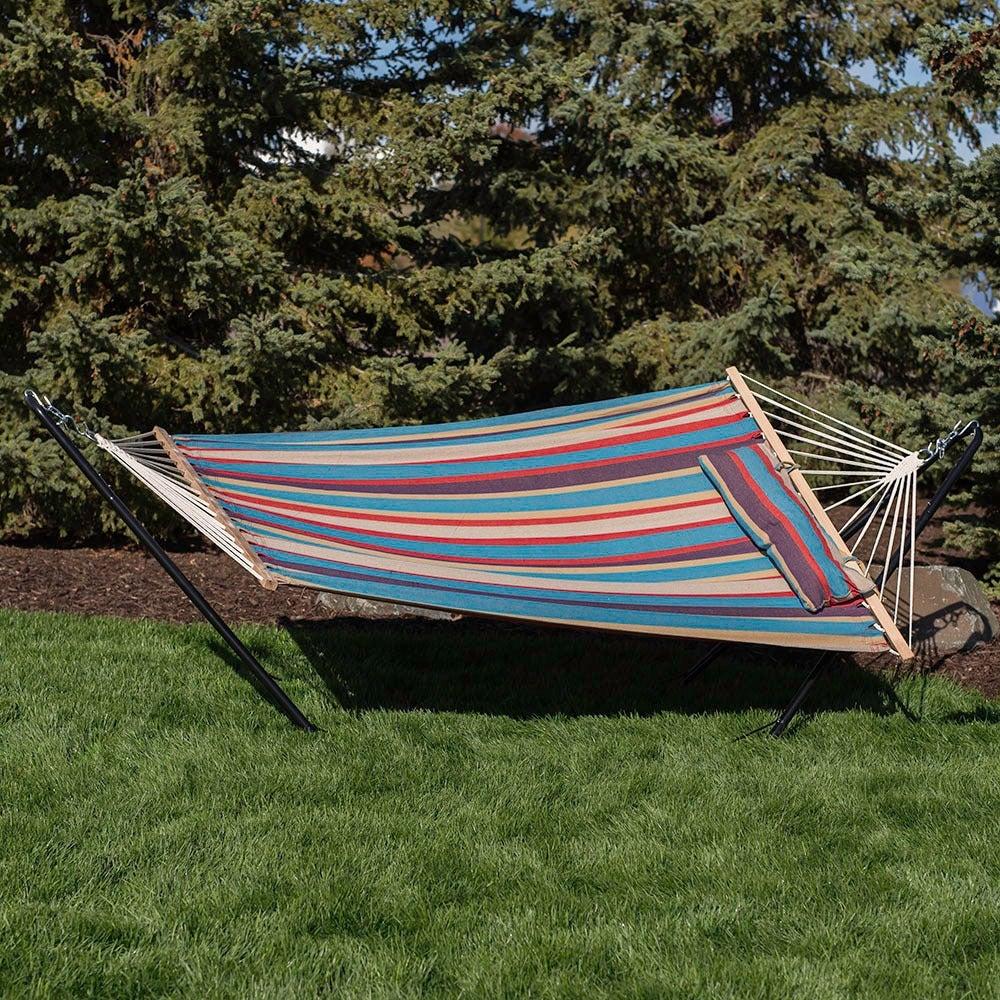 sunnydaze 10ft hammock stand and hammocks   free shipping today   overstock     18550230 sunnydaze 10ft hammock stand and hammocks   free shipping today      rh   overstock
