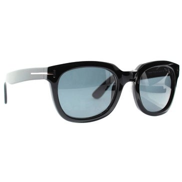 d85ee550bb51 Shop Tom Ford Campbell TF198 01A Black Shiny Smoke Grey Unisex Square  Sunglasses - Shiny Black - 53mm-22mm-145mm - Free Shipping Today -  Overstock - ...