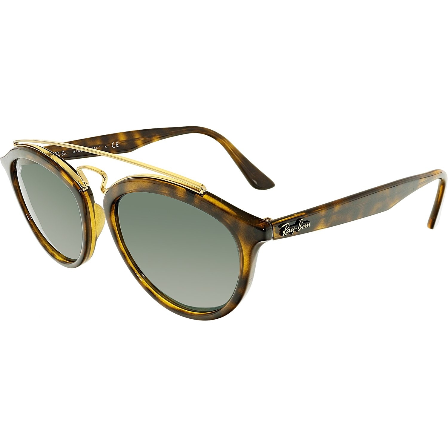 72c0bd5041 Ray-Ban Gatsby II RB4257-710 71-53 Brown Round Sunglasses - Free Shipping  Today - Overstock - 24957668
