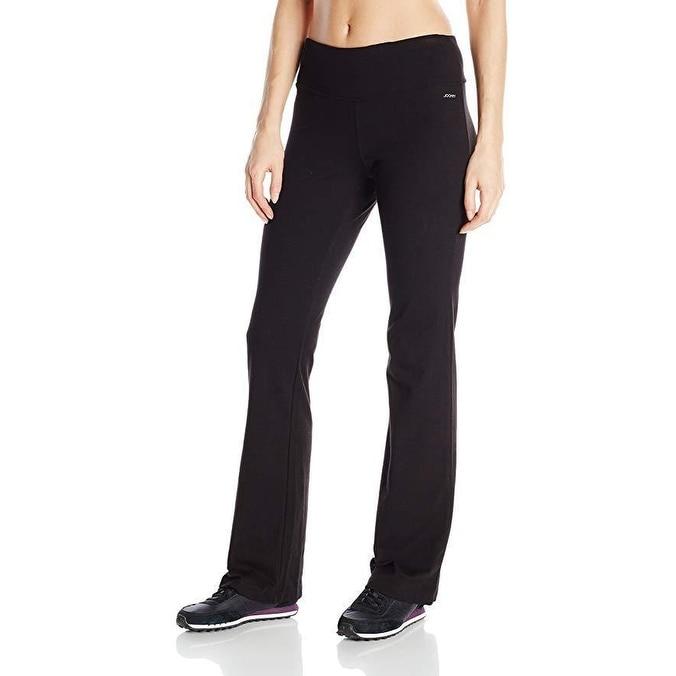 a5bfcec2d1b95 Shop Jockey Women's Slim Bootleg Pant, Deep Black, SZ 2X - Free Shipping  Today - Overstock - 27068167