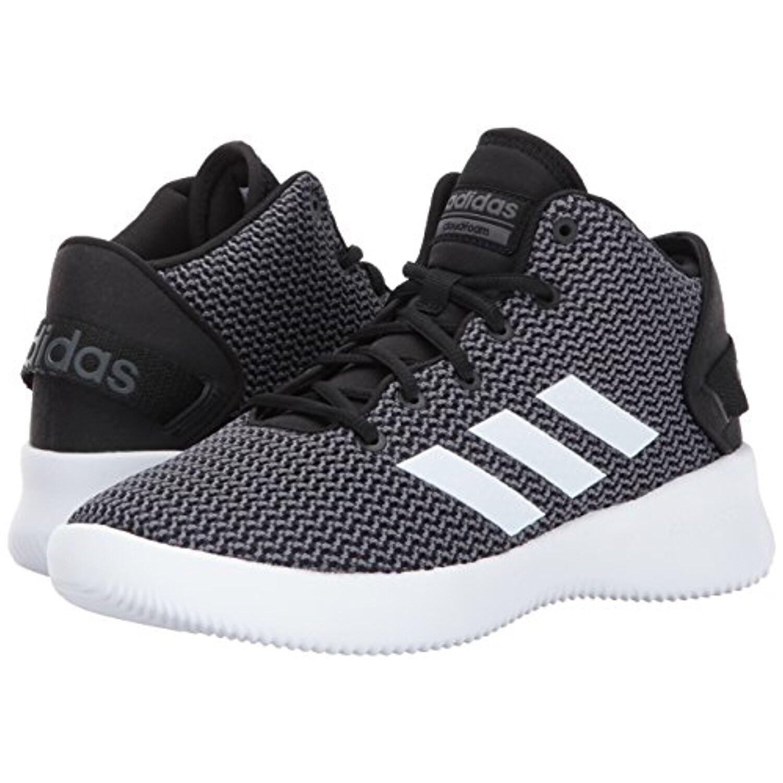 4da6743f4a0 adidas NEO Men s CF Refresh Mid Basketball Shoe - black white grey five
