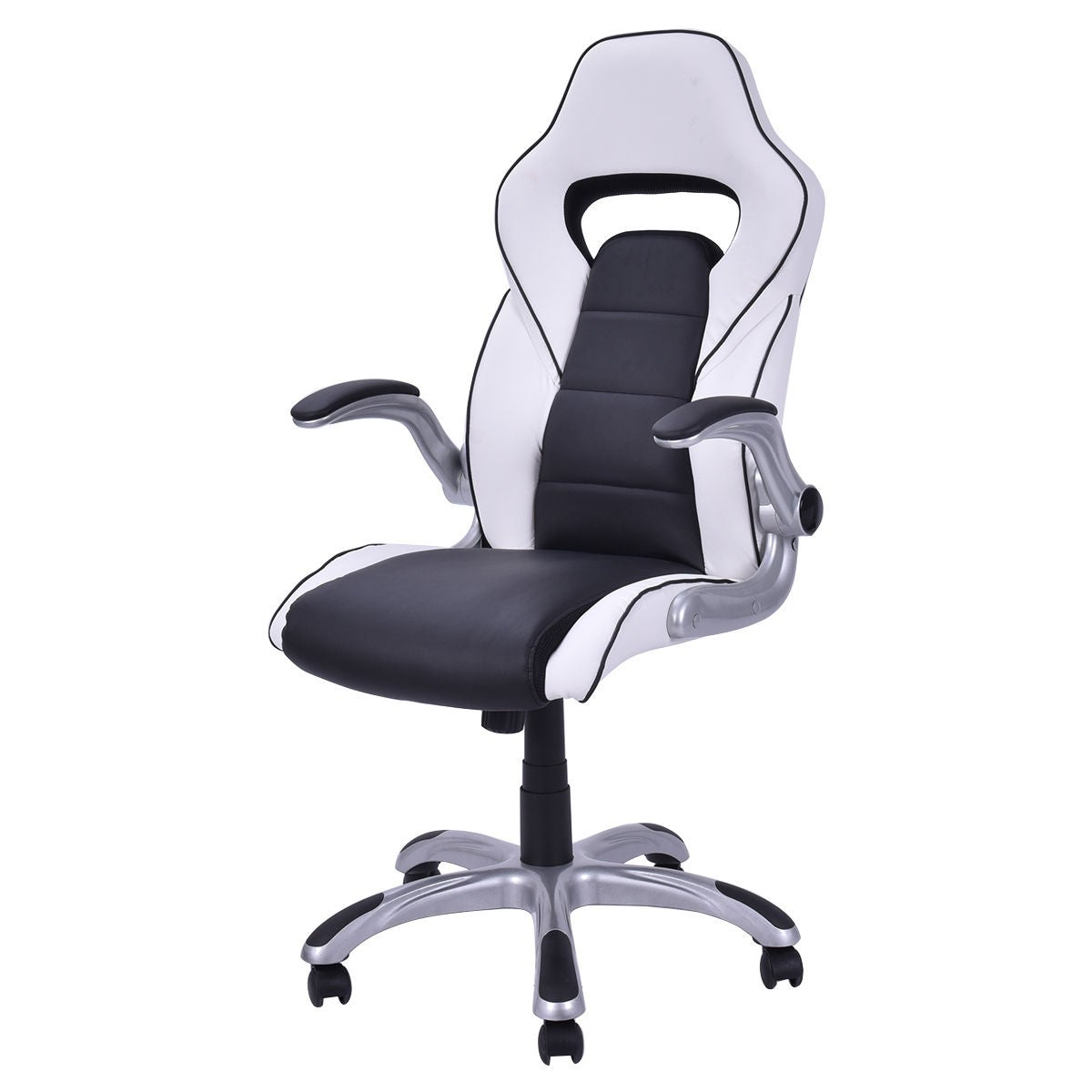 Costway High Back Executive Racing Style Office Chair Gaming Adjule Armrest Free Shipping Today 17056591