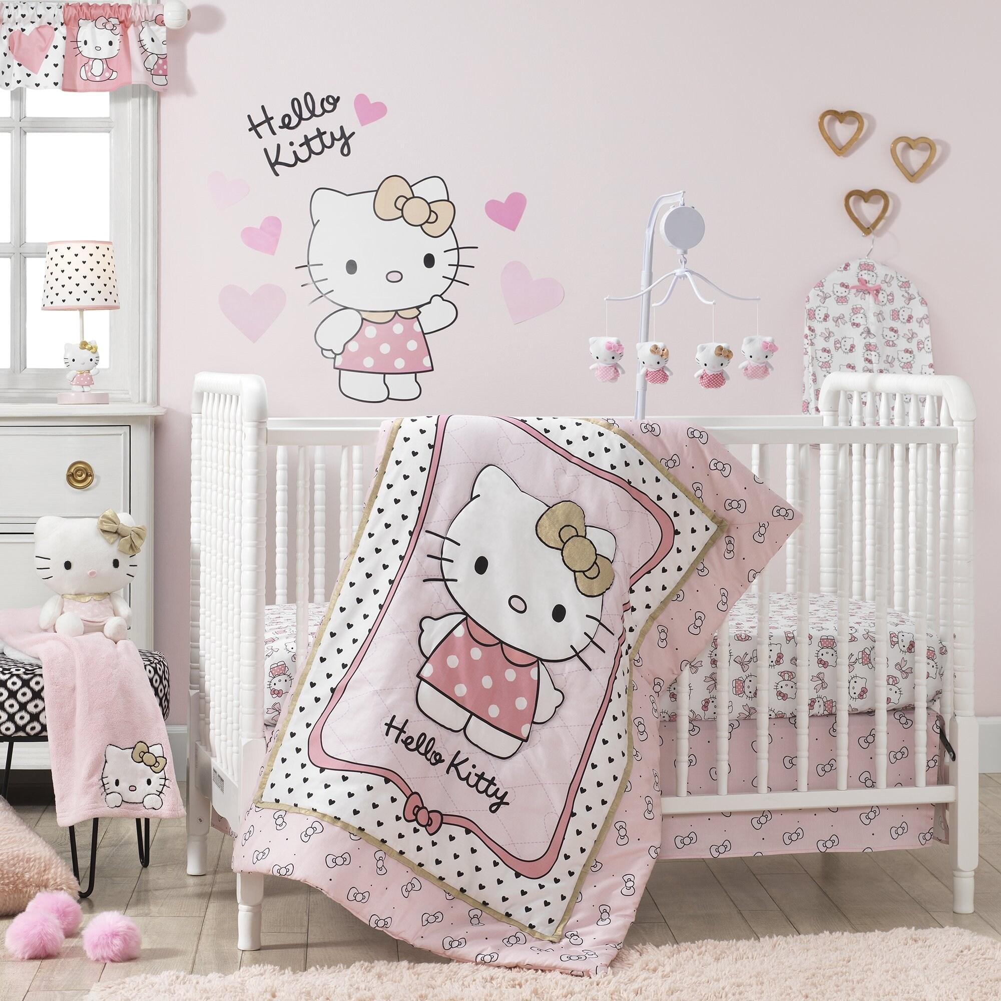 Shop Bedtime Originals Hello Kitty Luv 3 Piece Crib Bedding Set