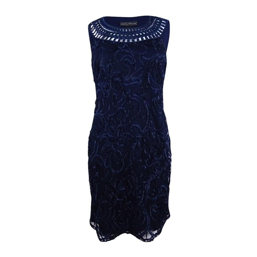 2df0aa69 Shop Jessica Howard Women's Crochet Shift Dress - On Sale - Free Shipping  Today - Overstock - 21908601