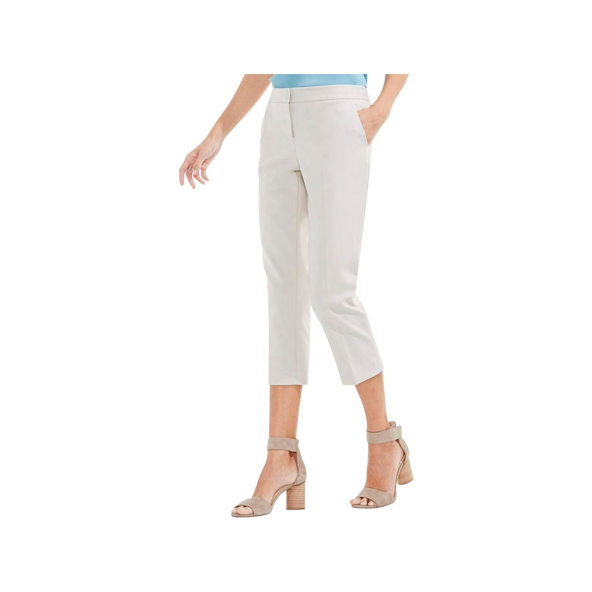 46f8cf2ca48895 Shop Vince Camuto Womens Capri Pants Flat Front Cropped - 10 - Free  Shipping On Orders Over  45 - Overstock - 22513483