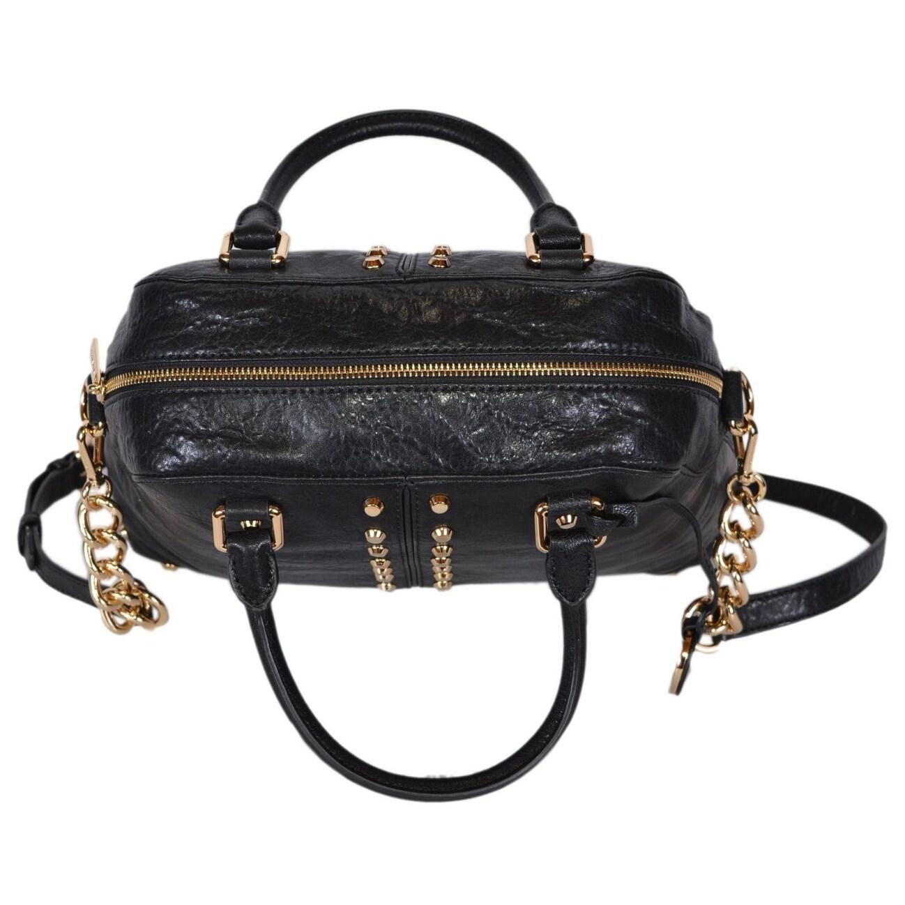 ebe02d7e7204 ... Studded Uptown Satchel Bag Shop Michael Kors Large Black Leather Uptown  Astor Convertible Dome Handbag - 14.25
