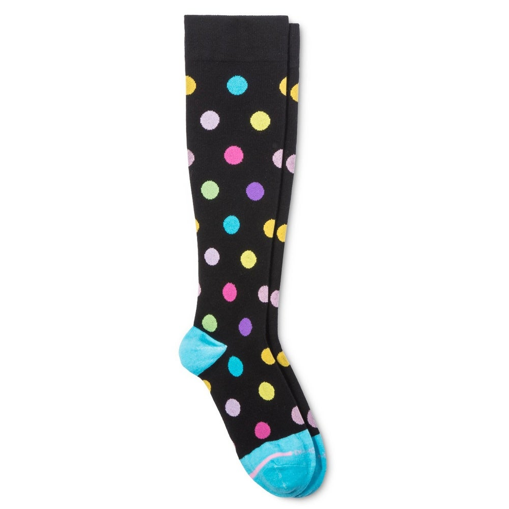 8d1eadf51 Shop Dr. Motion Women Everyday Knee High Mild Compression Socks Black Dots 4 -10 - Free Shipping On Orders Over  45 - Overstock.com - 24218620