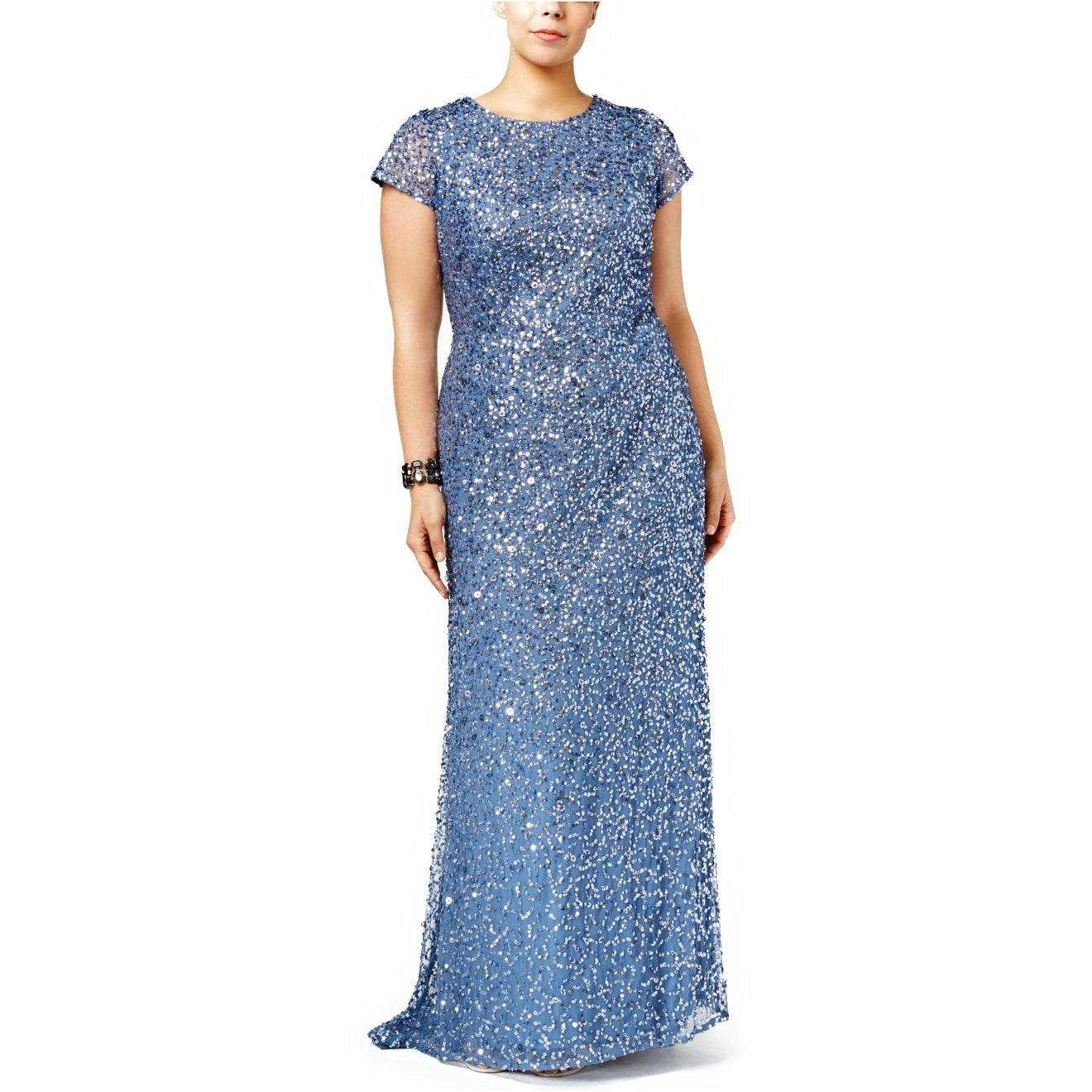 Adrianna Papell Plus Size Embellished Evening Gown Dress - 14W ...