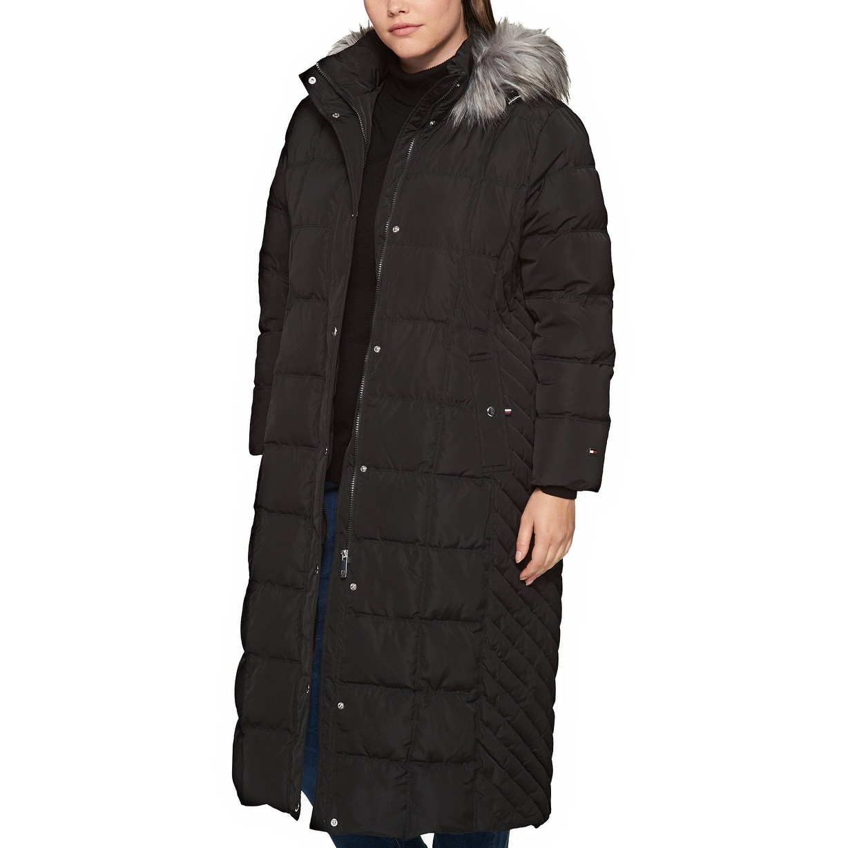 7f6af61dbd6 Shop Tommy Hilfiger Plus Size Faux Fur Trimmed Down Long Puffer Coat Black  - 3x - Free Shipping Today - Overstock - 24168332