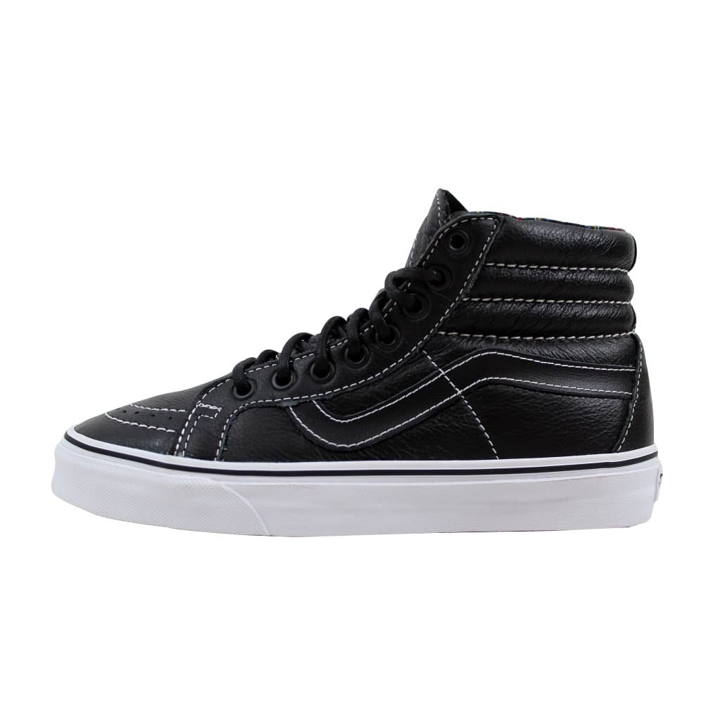 Shop Vans Men s Sk8 Hi Reissue Black Plaid Leather VN0003CAI1I Size 6 -  Free Shipping On Orders Over  45 - Overstock - 21893296 bef60393e