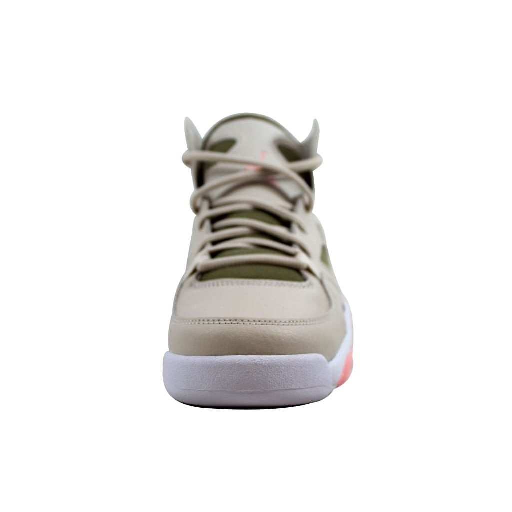 18e36d3029aa5 Shop Nike Grade-School Air Jordan Flight Club 91 Light Orewood  Brown Bleached Coral 555333-101 - Free Shipping Today - Overstock - 21893615