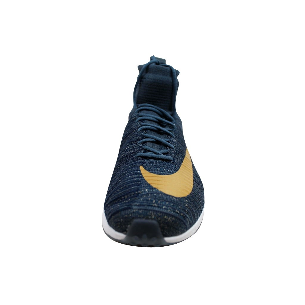ceebb04a4 ... discount code for shop nike mens zoom mercurial xi flyknit fc blue fox  metallic gold coin